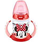 NUK Disney First Choice Learner Bottle  - Vaso aprendisaje de PP con cbquilla blanda de silicona150 ml, colores aleatorios