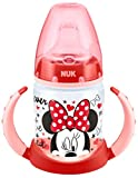 NUK First Choice Biberon di apprendimento con Disegno Disney Mickey & Minnie, 150ml, per 6-18 mesi, Disegni Assortiti