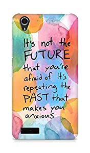 AMEZ its not the future that you are afraid of past Back Cover For Lenovo A3900