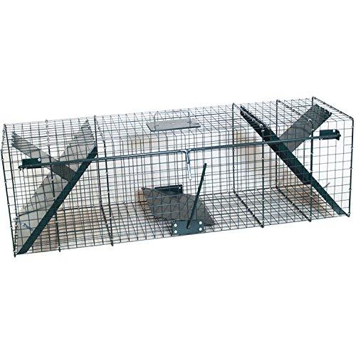 Piège de capture - 150cm - Cage - A deux entrées - 150x32x32cm - Pour renards, chats, martres