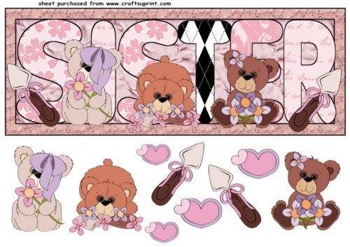 Siste floreale orso della parte anteriore di Sharon Poore