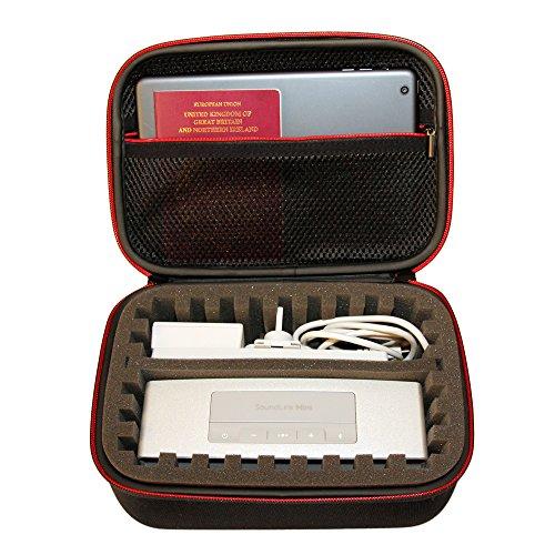 Estuche Multiusos de Viaje y Estuche para el Bose Soundlink Mini Speaker, Cámaras Gopro, Dispositivos Electrónicos, Instrumentos y Accesorios pequeños. Vendido exclusivamente por eStockco.