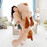 YunNasi enorme perro de peluche tumbado juguete de niños cojín 150 cm