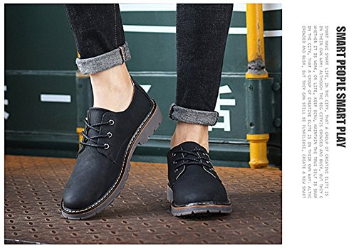 Uomini Scarpe Casual Martin Scarpe 2017 Nuova Autunno Inverno Personalità Scarpe Grande Scarpe Inghilterra Scarpe Pelle Moda Black