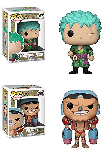 Funko POP! One Piece: Roronoa.Zoro + Franky – Anime Stylized Vinyl Figure Bundle Set NEW
