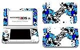 Skins4u Nintendo 3DS XL Skin Decal Film Design Sticker Complete Set Protective Film, More Blue