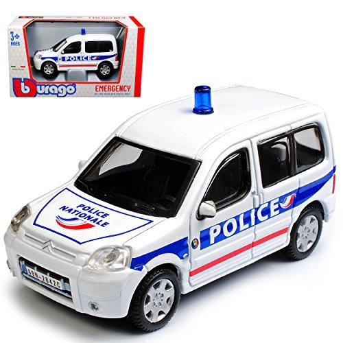 Citroen Berlingo Police Polizei Weiss Blau 1/50 Bburago Modell Auto mit individiuellem - Citroen Modell