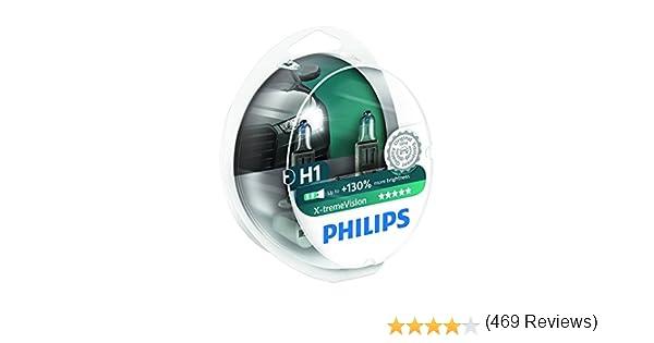 Twin Pack de ampoules 130/% H1 12258XV+S2 ampoules de phare PHILIPS XTREME VISION