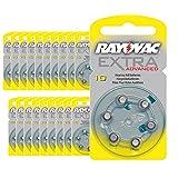 120 x Rayovac Extra Advanced Type 10 gehoorapparaatbatterijen