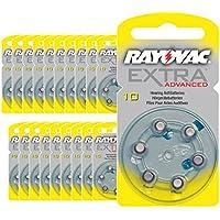 120 pilas para audífonos Rayovac Extra Advanced, tipo 10