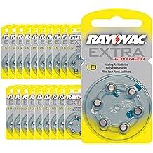 120 x Rayovac Acoustic Special Hörgerätebatterien 10 Gelb 4610 20x6er Blister