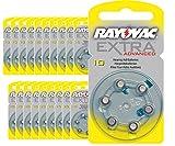 120 x Rayovac Extra Advanced Typ 10 Hörgerätebatterien
