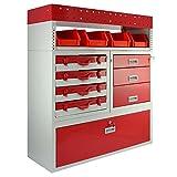 Monster Racking Firecracker Aufbewahrungseinheit für die Garage, 101,6 x 115,8 x 36 cm, Rot