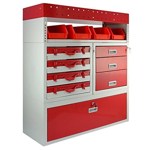 fahrzeugregale Monster Racking Firecracker Aufbewahrungseinheit für die Garage, 101,6 x 115,8 x 36 cm, Rot