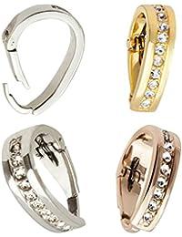 Öse Schlaufe Anhänger Clip Diamant-Imitaten Gold Silber Rosegold