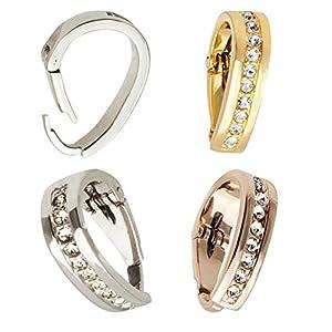 IhnSie Öse Schlaufe Anhänger Clip Diamant-Imitaten Gold Silber Rosegold
