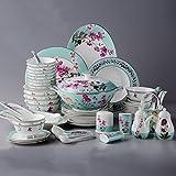 62 articoli per la tavola / piatti Set / casa di alta qualità Bone Porcellane / Semplice creativo Set da tavola / regalo articoli per la tavola