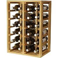 Expovinalia Botellero 24 Botellas, Madera, Roble Claro, 66x46x32 cm