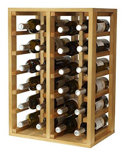 Expovinalia Flaschenregal in Kiefer für 24 Flaschen, Holz, Dunkle Eiche, 66 x 46 x 32 cm