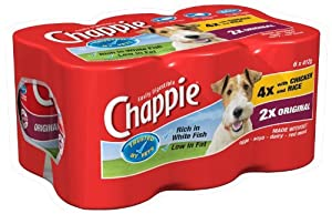 Chappie Favourites Selection 6 x 412 g (Pack of 4, Total 24 Cans) by Mars Petcare Uk