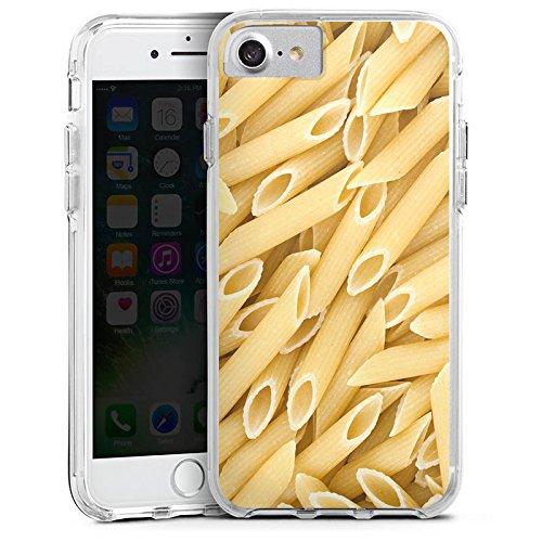 Apple iPhone X Bumper Hülle Bumper Case Glitzer Hülle Nudeln Penne Food Bumper Case transparent