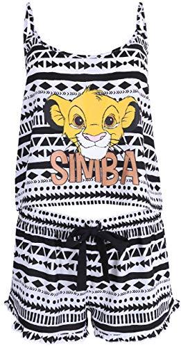 Lion Pyjama Kostüm - schwarz-weißer Simba Pyjama