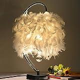 YMXLJF Schlafzimmerlampe der kreativen Federlampe E27, die dekorative Tischlampe beleuchtet - reading desk lamp
