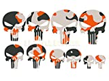 Punisher 10 Aufkleber tarn look the Punisher Sticker grau Orange