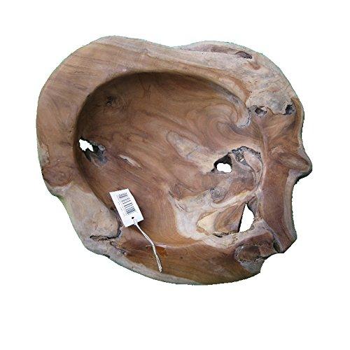 Exklusive Wurzelholz-Schale 50 cm aus massivem Teak-Holz natur 2. Wahl