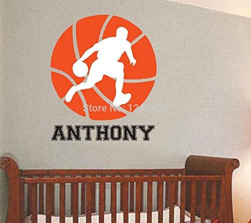 Charmante Custom made Basketball abnehmbare Tapetensticker personalisierte Zimmer Wall Art benutzerdefinierter Name Vinyl-You Namen auswählen und Farbe