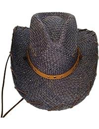 GHMM Sombrero de Paja Sombrero de Vaquero Occidental de Verano Sombrero de  Sol de Estilo Europeo a92a0b9dda1