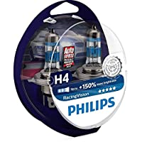 Philips Racing Vision H4 Headlight Bulbs (Twin)