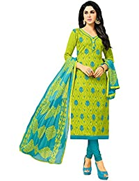 Applecreation Women'S Cotton Jacquard Unstitched Salwar Suit Dress Material (Free Size)