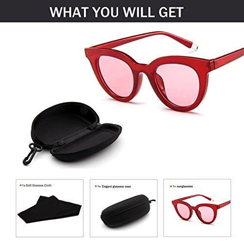 Junjiagao Weibliche Mode Sonnenbrillen Retro polarisierte integrierte Candy farbige Gläser (Color : NO.4)