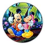 Generique - Mickey and Minnie Mouse Tortenaufleger Disney