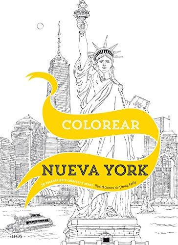 Colorear Nueva York: 20 escenas para colorear a mano