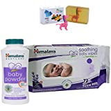 Himalaya Herbals Baby Powder (50g)+Himalaya Herbals Soothing Baby Wipes (72 Sheets) With Happy Baby Luxurious Kids Soap With Toy (100gm)