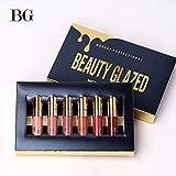Beauty Sexy 6PCS/brillo de labios mate Sexy líquido Lipstick...