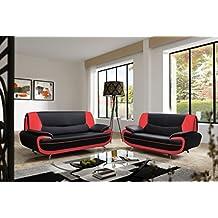 canap simili cuir. Black Bedroom Furniture Sets. Home Design Ideas
