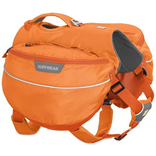Ruffwear Wander-Rucksack für Hunde, Sehr kleine Hunderassen, Größenverstellbar, Größe: XS, Orange (Orange Poppy), Approach Pack, 50102-801S1