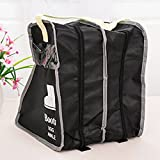 #8: Phenovo Black Long Boot Storage Bag Portable Travel Home Shoe Organizer 29*24*30cm