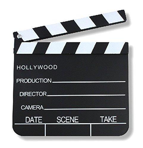 S/O® Regieklappe 30x27cm Regie Klappe Filmklappe Szenenklappe Hollywood Kreidetafel Clapbaord Regieklappen Filmklappen