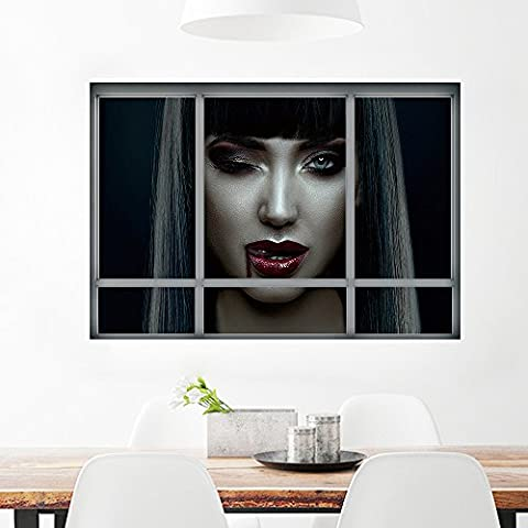 OverDose Halloween Stickers Home Decoration Art Wall Mural PVC 3D Window Decor