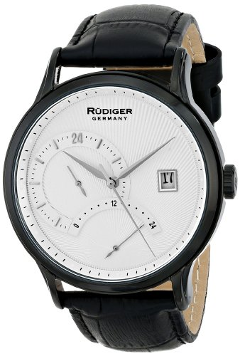 Rudiger Men's R2700-13-007 Aachen Analog Display Quartz Black Watch