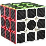 Aiduy 3x3x3 Zauberwürfel Speedcube Kohlefaser Aufkleber für Smooth Magic Cube Puzzles
