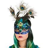 Orlob Paradiesvogel Pfau Halbmaske Maske zum Kostüm Karneval Fasching