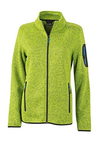James & Nicholson Damen Jacke Jacke Knitted Fleece Jacket grün (Kiwi-Melange/Royal) X-Large