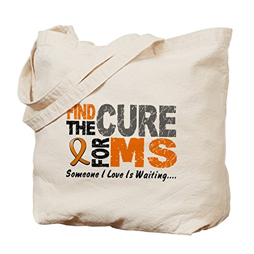 cafepress-find-the-cure-1-ms-natural-canvas-tote-bag-cloth-shopping-bag