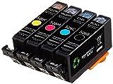AmazonBasics - Wiederaufbereitete Tintenkartuschen für Canon CLI-526, Kombi-Packung