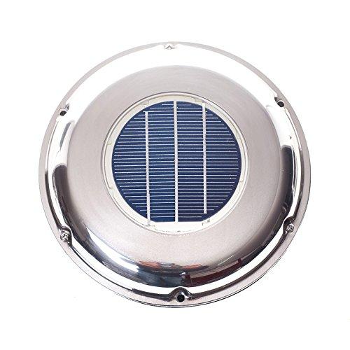 WATTSTUNDE - Ventilador solar de acero inoxidable para barco